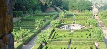 Garten des Castello Ruspoli in Vignanello