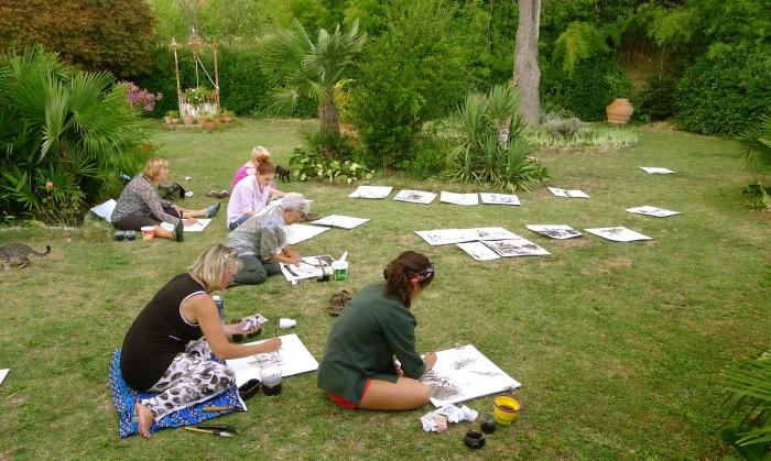 in giardino di Villa Le Guadalupe