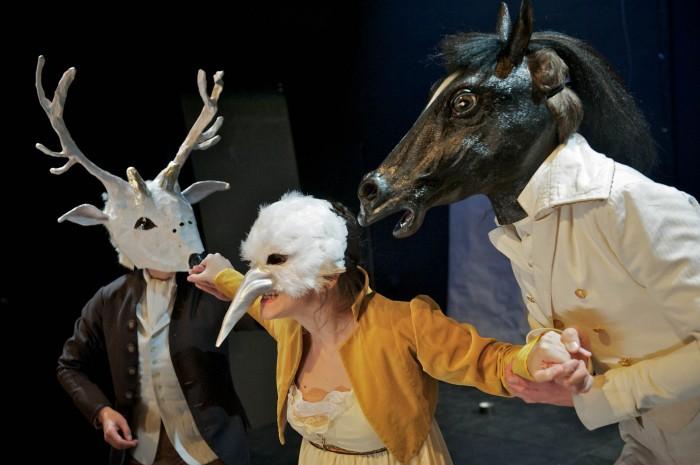 """Gisela Pestalozza, Kostüme für """"Heinrich von Kleist spielt Michael Kohlhaas"""", Dresden 2011"""