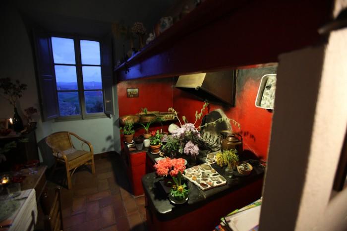 Villa Le Guadalupe - Küche mit Kamin
