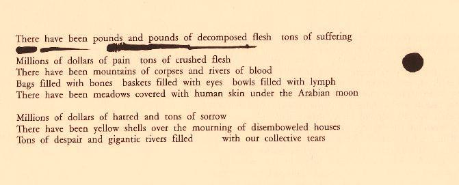 Etel Adnan, Arabische Apokalypse, Seite 69