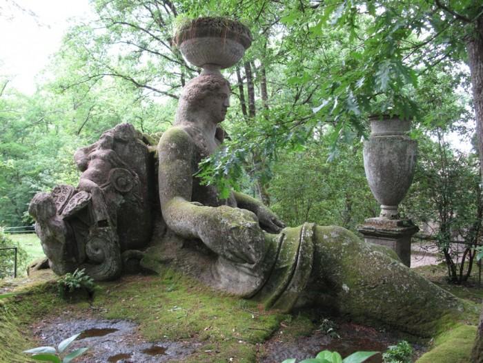 Cerere im Heiligen Wald von Bomarzo