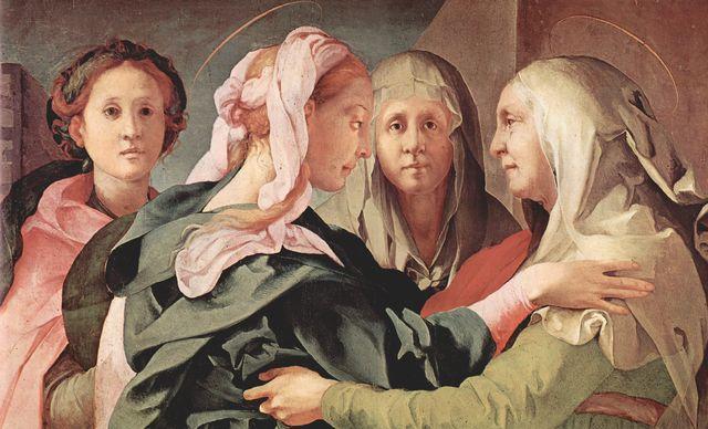 """Pontormo, """"Die Heimsuchung"""", 1528/29, Detail"""