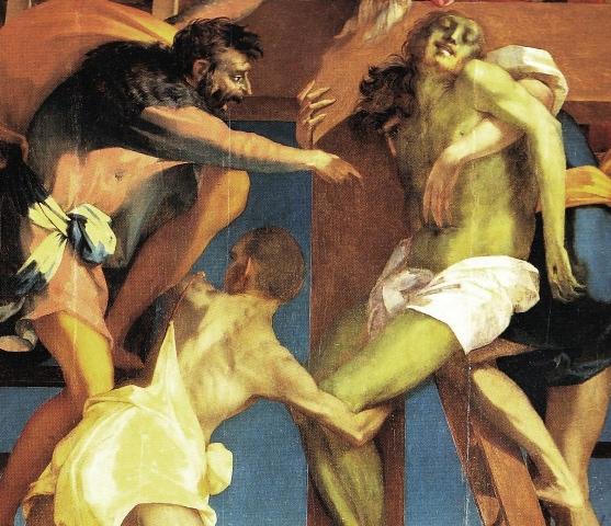 Rosso Fiorentino, Kreuzabnahme, 1521, Detail